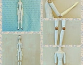 bead jointed cloth doll PDF digitel download sewing pattern