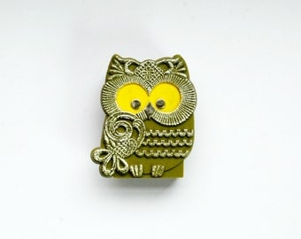vintage 1960s OWL pencil holder