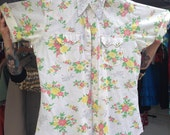 Cowboy shirt cowgirl shirt vintage cowboy shirt H Bar C shirt