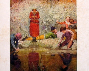 Joan of Arc - 1918 Children's Book Page - The Gooseberry Spring
