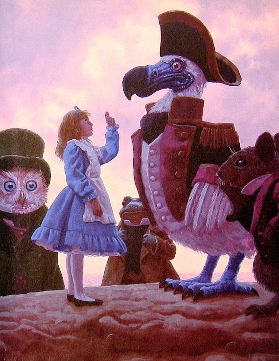 Items similar to Alice in Wonderland - Alice and the Dodo ...