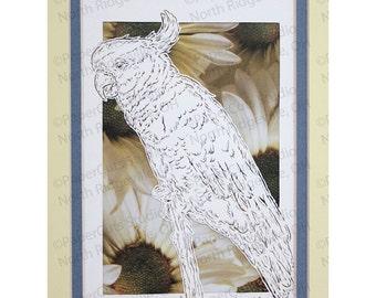 Cockatoo Papercutting- Handcut Original