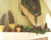 Large Wooden Carved Angels Wings, 12 x 32 inches