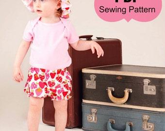 Bloomers Sewing Pattern/Tutorial - short and longer version nb-6 girls PDF