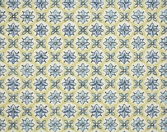1940s Vintage Wallpaper - Geometric Wallpaper Yellow and Blue Design
