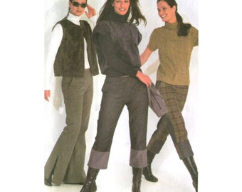 Misses Tall Hipster Pants Sewing Pattern - Burda 8745 - Two Lengths - All Sizes 6-18 Uncut