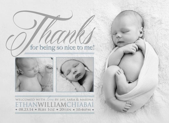 Thank you Birth Announcement Photo Card Thanks for being so – Birth Announcements and Thank You Cards