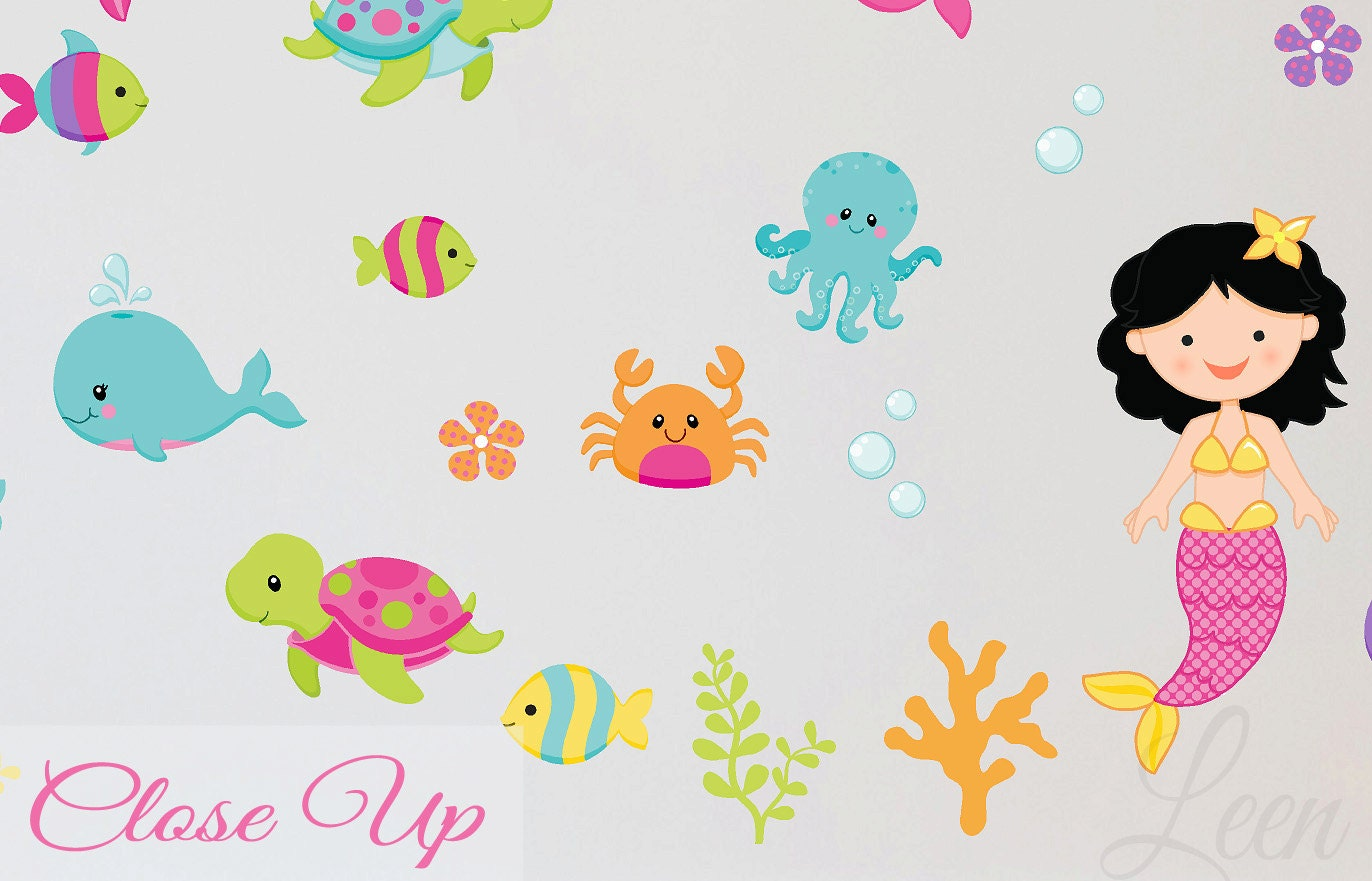 Mermaids And Sea Animals Wall Decals Reusable Fabric Whale. Pink Princess Murals. Kid Decals. Kpop Stickers. Mask Murals. Indianapolis Colts Logo. Sac State Logo. Baby Age Decals. Outdoor Museum Banners