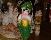 Reserved for Joanne Rare Vintage Chalkware Flapper Kewpie Doll