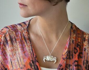 Bronze Crab Necklace