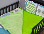 Custom Lime Green Fitted Crib Sheet for Toddler Bed or Baby Crib in Cotton Fabric, Made to Order - Lime Green Crib Sheet - Green Toddler Bed