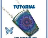 Tutorial- Extruded Mica Shift Swirl- Polymer Clay Tutorial Pendants- Beginner Tutorials- Polymer Clay Jewelry