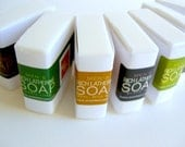 Mens Soap Samples, 7 Soap Samplers, Travel Size Soap, Free Shipping, Red Leaf Soap Seattle