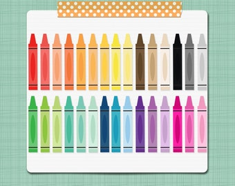 Crayon Clip Art Crayons Clipart School Clip Art Teacher Classroom Clip Art Graphics - Personal & Commercial Use INSTANT DOWNLOAD