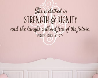 Monogram with Scripture or Quote - Vinyl Wall Decal