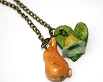 Rabbit Necklace, Easter Bunny Pendant, Woodland, Animal Necklace