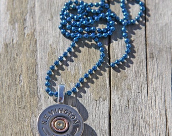 12 Gauge Shotgun Necklace, Your Choice of Chain Color