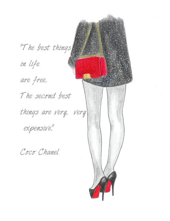 Chanel Bag Illustration And Red Chanel Bag Fashion