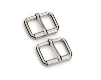 "50pcs - 3/4"" Roller Pin Belt Buckles - Nickel - Free Shipping (ROLLER BUCKLE RBK-108)"