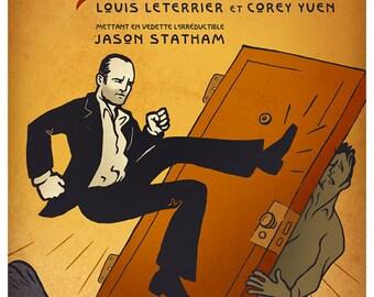 Le Transporteur - French inspired Jason Statham illustrated TRANSPORTER poster