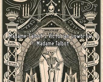 Paris Cabaret du Néant Glow in the Dark Poster (Cabaret of Death) Gothic Lowbrow Skeleton