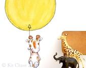 Giraffe Balloon -- Wall Decal
