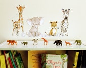 SAFARI FRIENDS -- Wall Decal