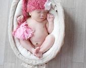 Baby Hat, Newborn Hat, Knit Baby Hat, Baby Photo Prop, Baby Girl Hat, Newborn Photo Prop, Pink Stocking Hat