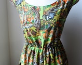 Escape To The Forest Dress With Pockets...Boho Forest Deer Dress..