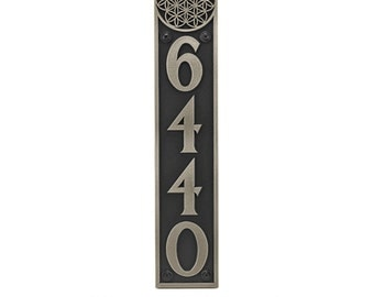"Address Number Sign Vertical The Gaia 4"" W X 20"" H"