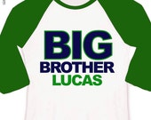 big brother shirt simple block text - big brother personalized shirt