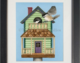 Cottage Living- an archival watercolor print by Tracy Lizotte