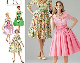 Misses' & Miss Petite 1950's Classic Vintage Dress, Simplicity 1459 Sewing Pattern, Sizes 8 -10 -12 -14 -16 or 16 -18 -20 -22 -24 New UNCUT