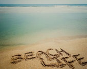 BEACH LIFE Sand Writing Fine Art Print