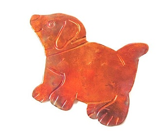 Puppy Dog Brooch Copper Pin Fun Fashion Jewelry