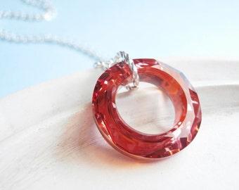 Swarovski Crystal Necklace - Cosmic Ring