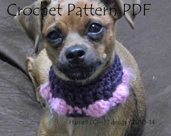 """Dog Neck Warmer """"Bubble Pop"""" for small dog breeds and puppies Crochet Pattern PDF"""