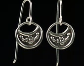 Petite Crescent Dangle Earring in Sterling Silver