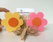 Flower Art Display Clips, Yellow, Pink and Orange, Flower Art Cable, eco friendly