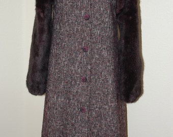 1940's Raglan Sleeve Long Wool Coat