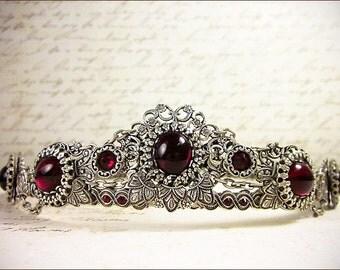 Wedding Tiara, Tudor Crown, Custom Headpiece, Renaissance, Medieval, Crown, Bridal Tiara, Queen, Medieval Wedding, Lucia