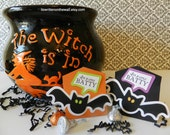 KITS  I'm a little Batty Treat Box / Bat Party Favor / Classroom Treat / Trick or Treat / You've Been Booed / Chocolate / Candy