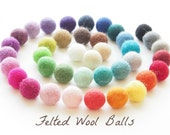 Felt Ball - Felt Bead - Felt Wool Ball 1 inch Bulk - White, Blue, Green, Mint, Pink Felt Ball 2cm - 10