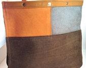 Patchwork Leather Medium Tote, Multi-Color