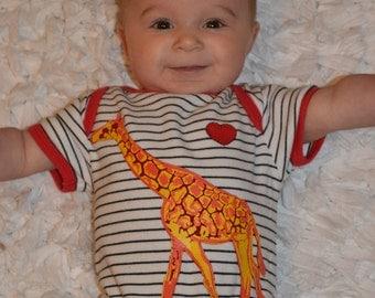 Giraffe Heart Onesie Size 9-12 Months