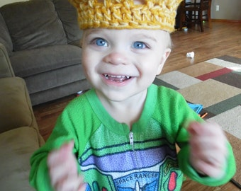 Short Crown, Prince, Princess, Gold, Pink or Purple Kid's Crown, US Shipping Included