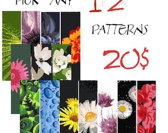 Peyote pattern, bracelet pattern, peyote bracelet, even peyote, uneven peyote, bulk discount - SAVE  - Pick Any 12 Patterns for 20.00 usd