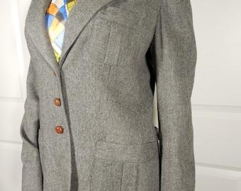 1980s Gray Wool Blazer