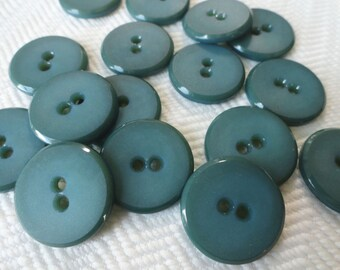 Indigo Vintage Buttons - 6 Two Hole Plastic
