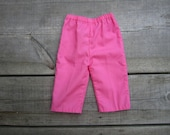 Vintage Baby Girl Pants . Pink . 6 to 12 Months